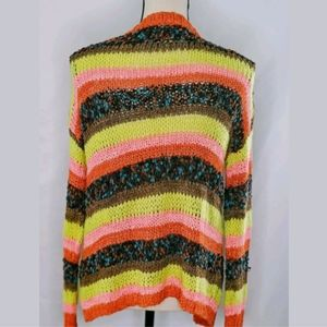 Mustard Seed Sweaters - Mustard Seed Multicolor Cardigan, Chunky Knit, S